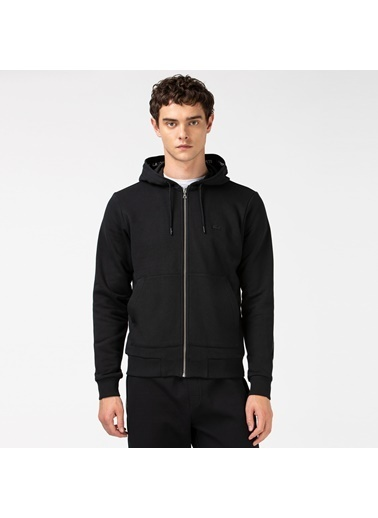 Lacoste Erkek Kapüşonlu Sweatshirt SH2154.54S Siyah